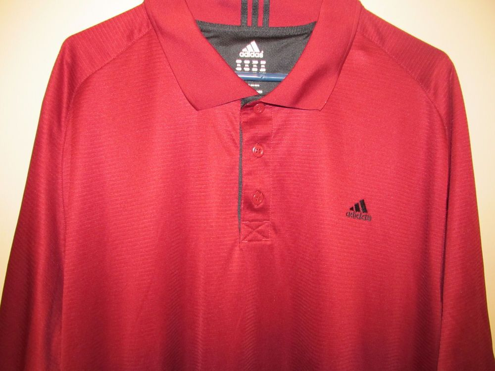 sports shoes f0a5d 1644f Adidas ClimaCool Dark Red Golf / polo shirt - Adult 2XL ...