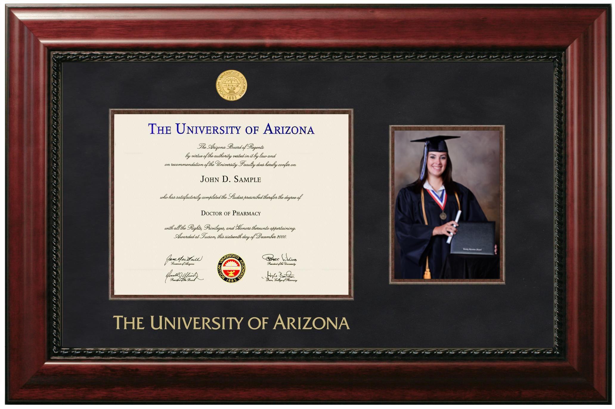 Price 228 00 University Of Arizona Diploma Frame With 5 X 7 Portrait Diploma Frame University Of Arizona Graduation Frame
