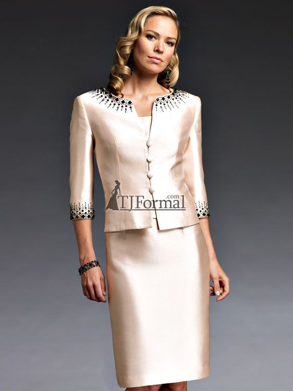 Skirt suit edged with design | Wedding Dresses for the Mature Bride ...