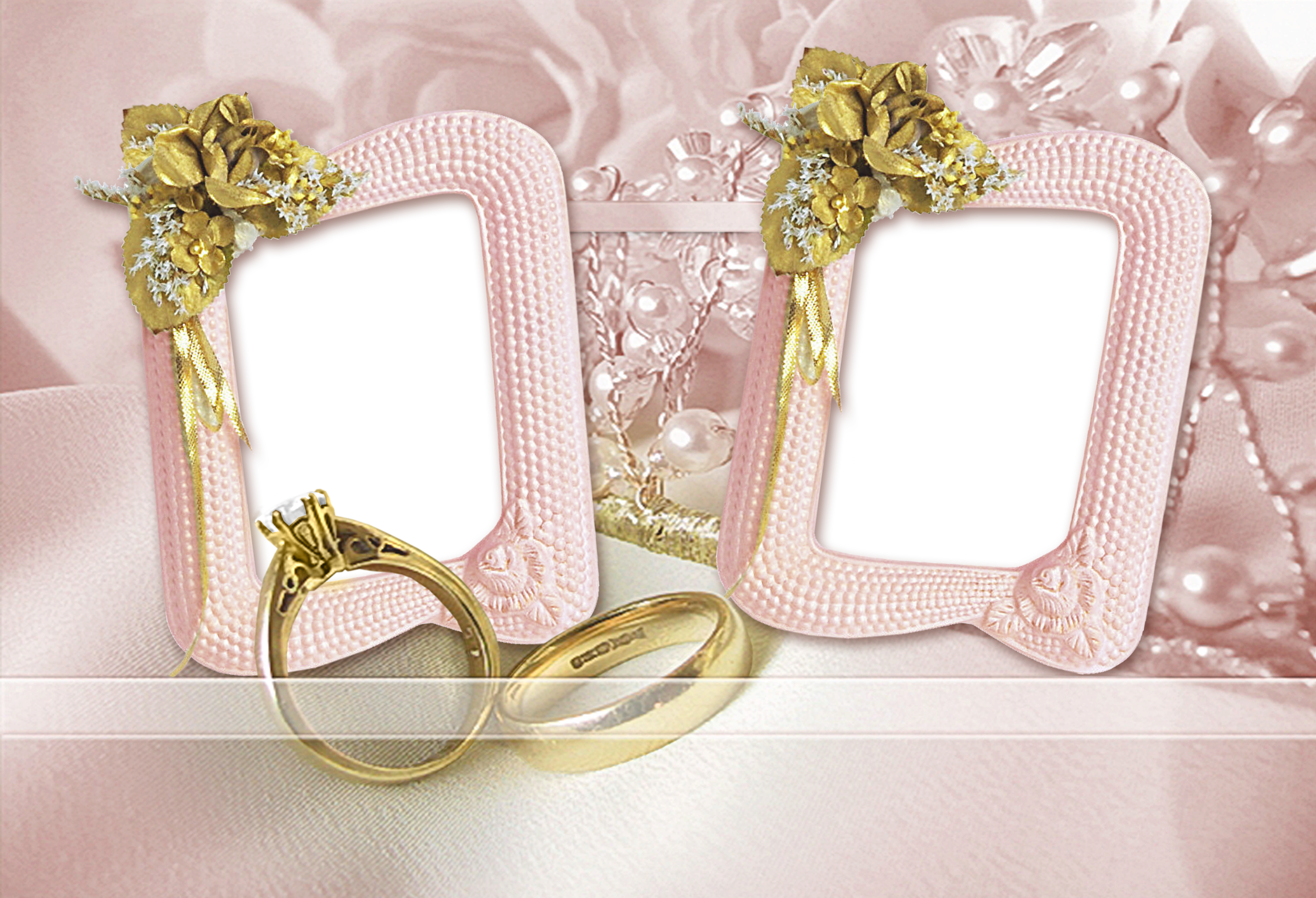 Large Transparent Wedding Frame with Rings   Things to Wear   Pinterest