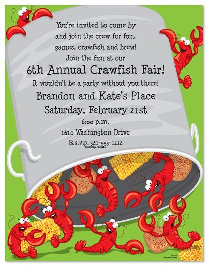 Crawfish boil invitations free printable