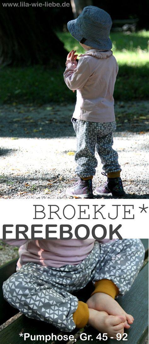 Freebook Broekje - (wieder eine) schnelle Kinderhose nähen ...
