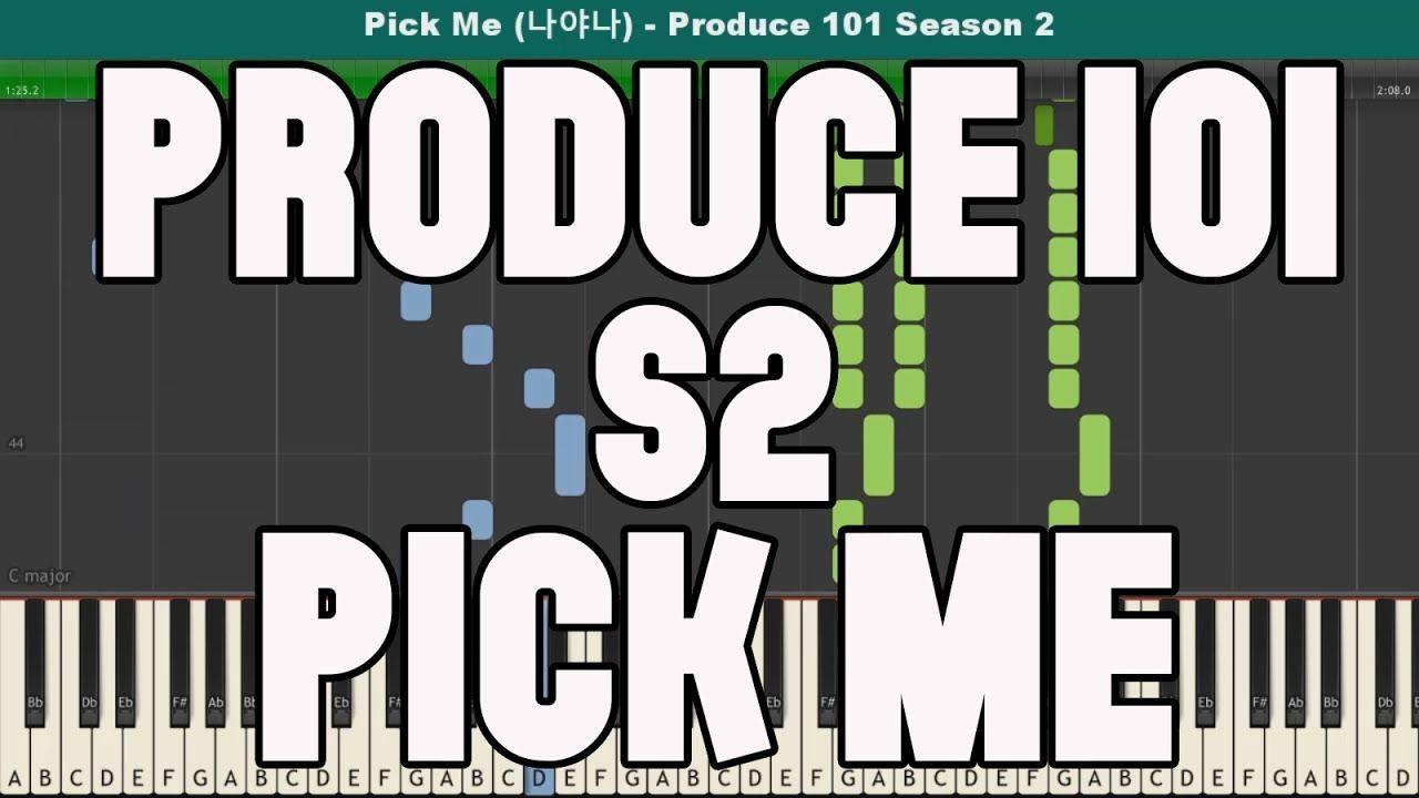 Pick Me (나야나) Piano Tutorial - Free Sheet Music (Produce 101 ...