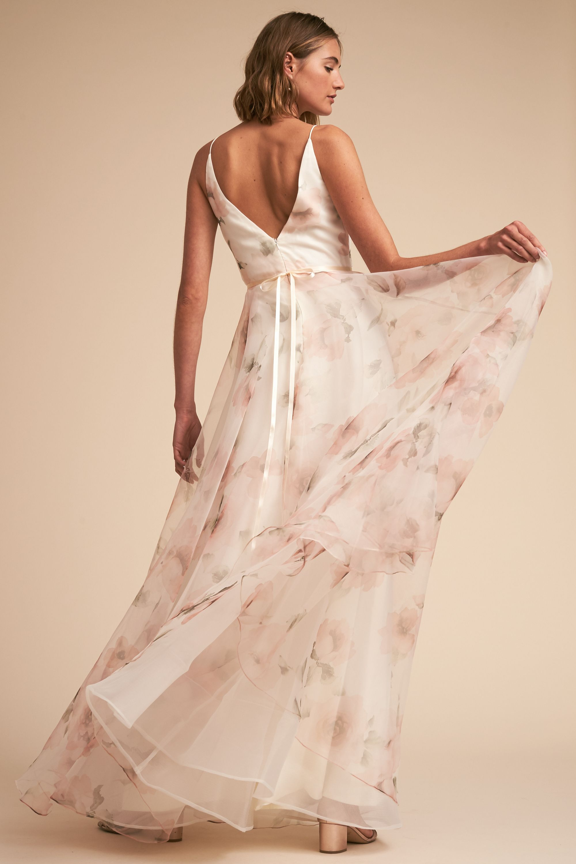 Jenny Yoo Collection, the Carolina bridal gown. Printed Floral ...