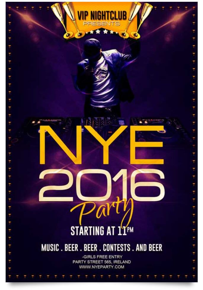 29 Free New Year Flyer Templates In PSD, Vector, AI Flyer template - free new years eve flyer template