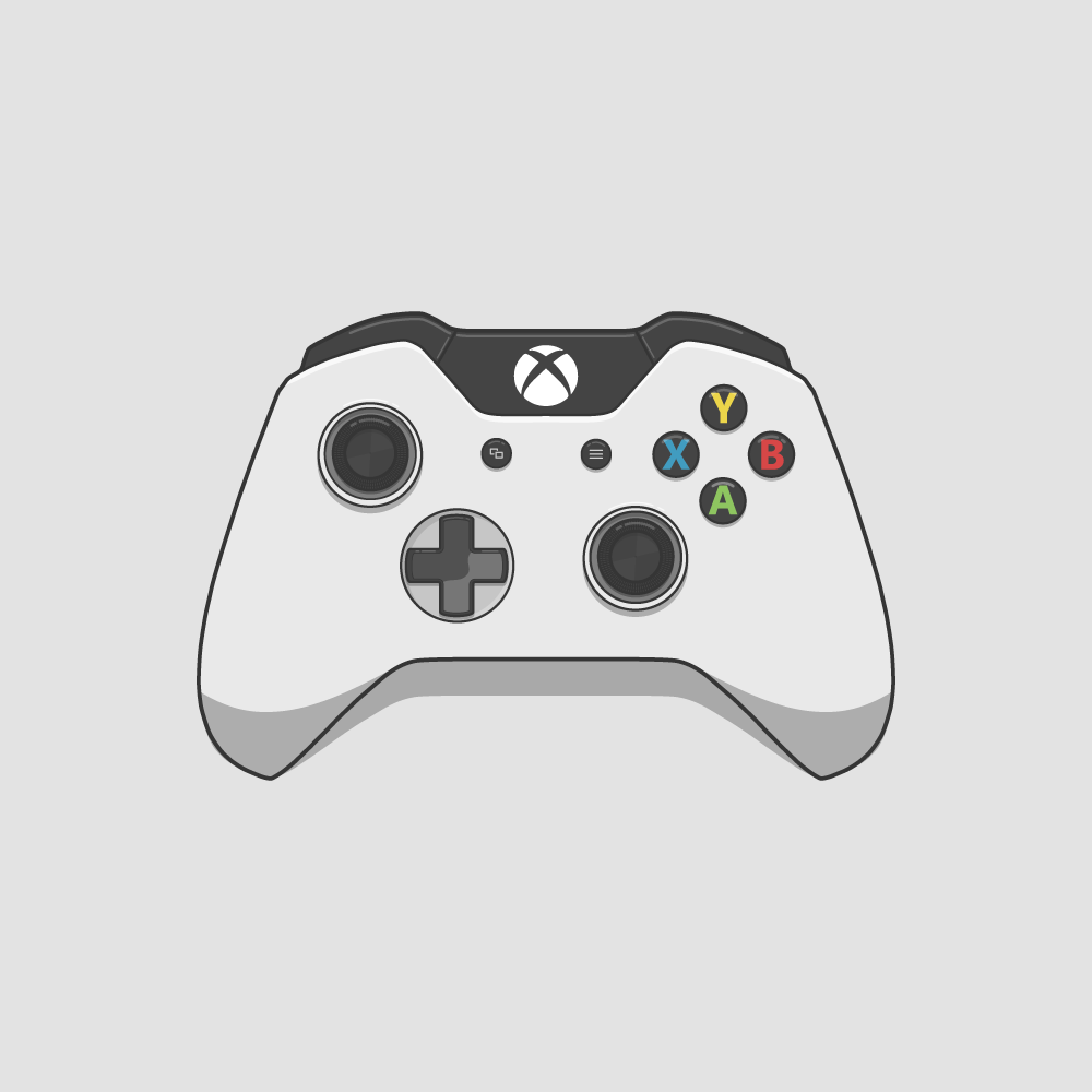 Xbox One Controller White Vector Digital Illustration ... Xbox One Vector