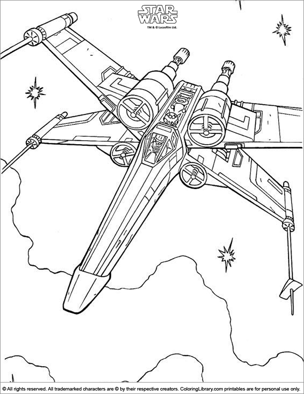 Star Wars coloring page | star wars | Pinterest