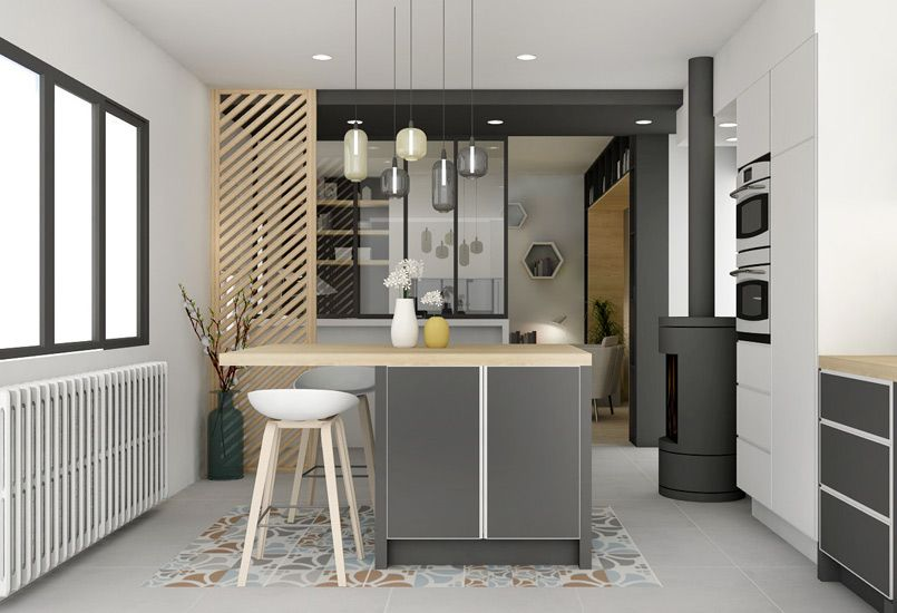 Un souffle de nouveaut r novation am nagement lyon for Amenagement interieur cuisine