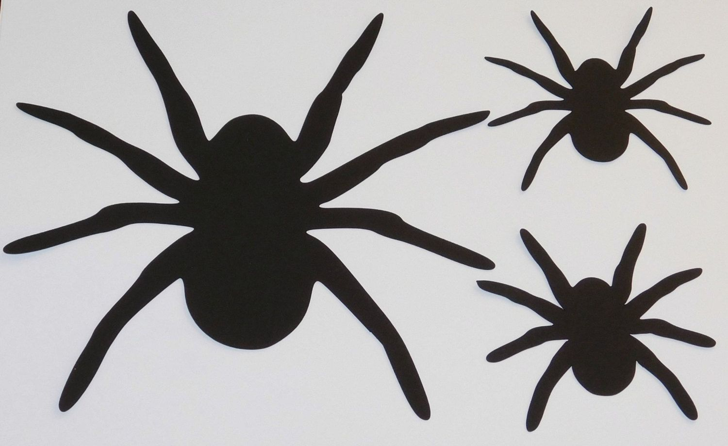 large spider die cuts spider halloween decoration window halloween decor wall halloween decor - Spider Halloween Decorations