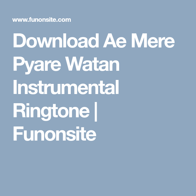 download song aye mere pyare watan aye mere bichde chaman