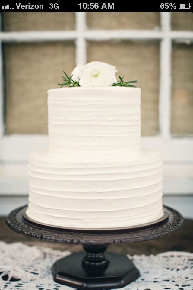 Simple Wedding Cakes Non Fondant Flour Bakery Photo Gallery