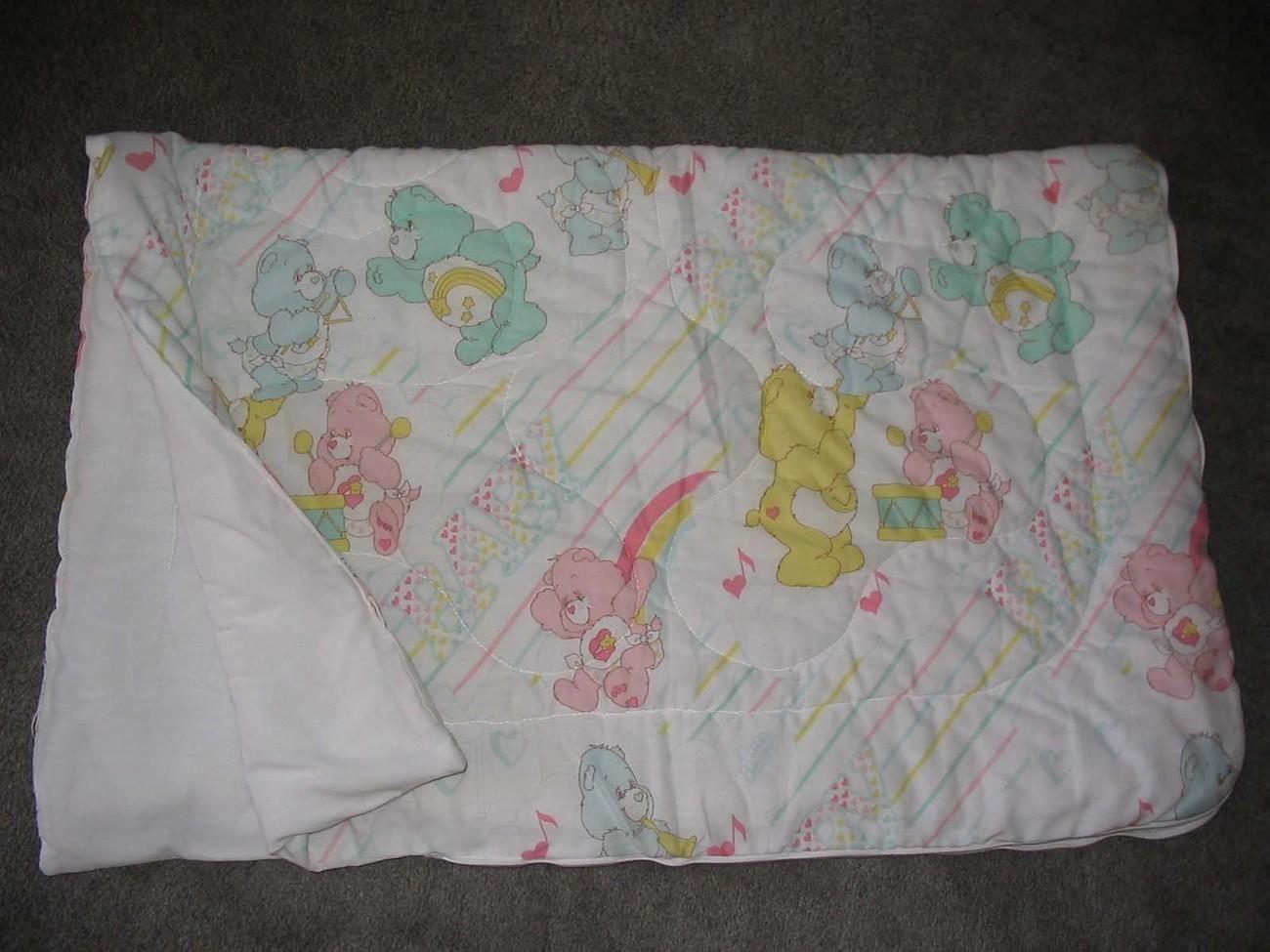 Vintage CARE BEARS Baby Blanket Sleeping Bag