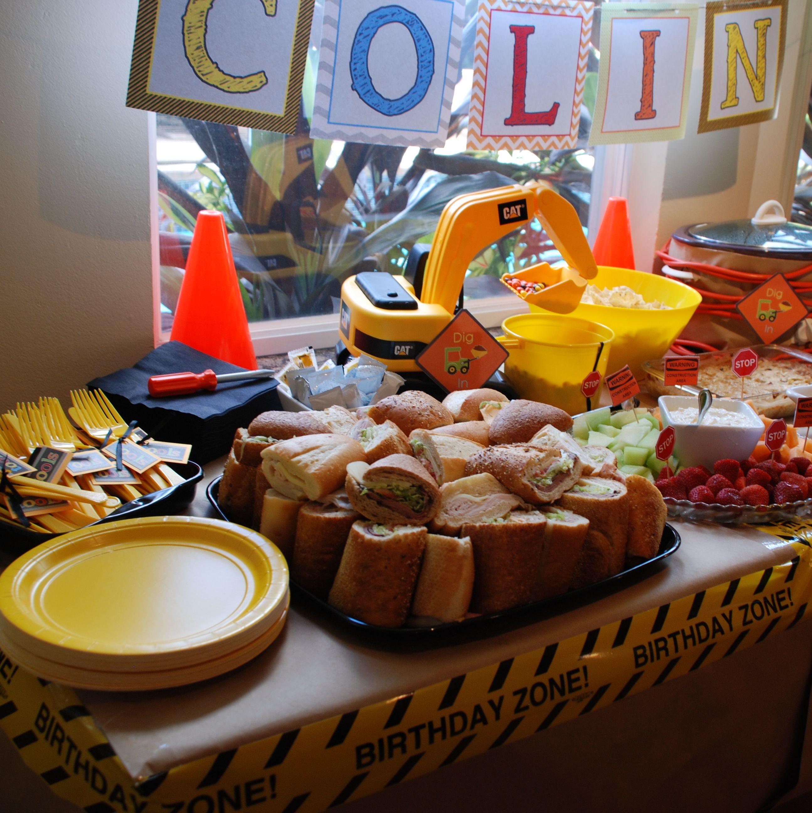 Construction birthday party food ideas construction