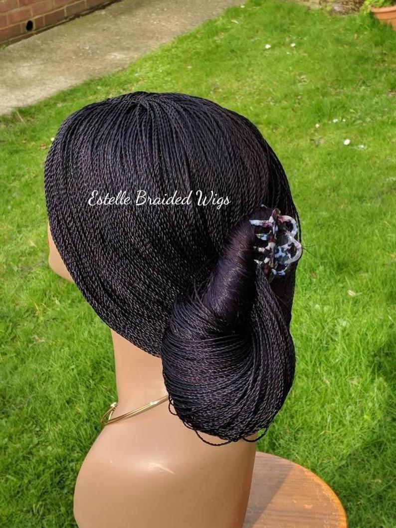 Braided wig braids wig for black women micro twists wig