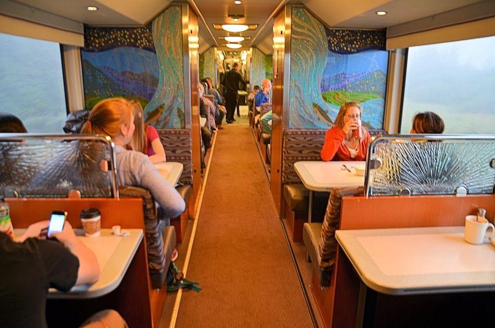 Alaska Railroad Goldstar Dining Room On The Coastal Classic Train Alaska Railroad Train Girdwood