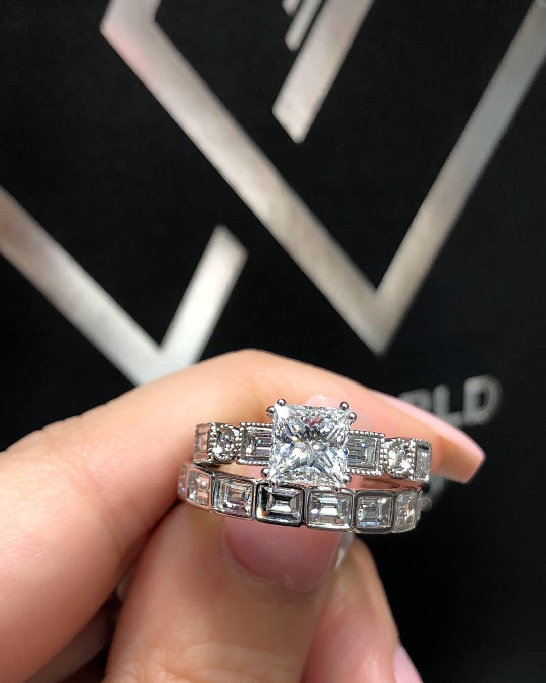 Diamond Engagement Ring Wedding Band Set Engagement Rings Wedding Bands Set Wedding Rings Engagement Wedding Band Sets