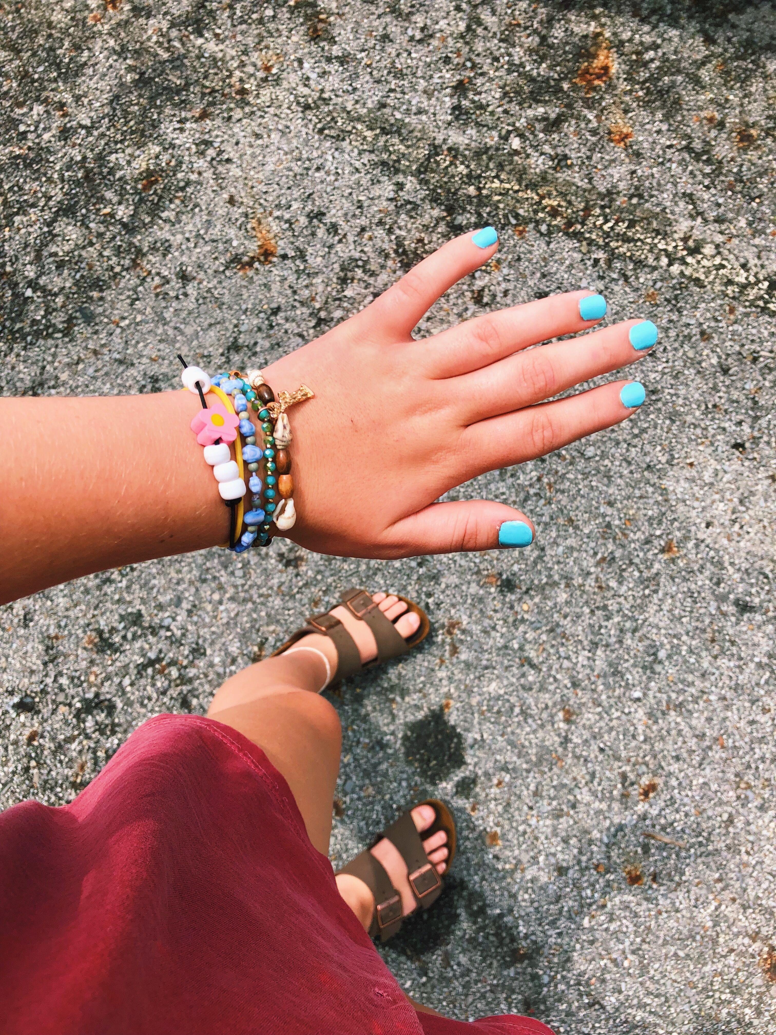 #bracelets #summer #blue #yellow #birkenstock   Nail ...