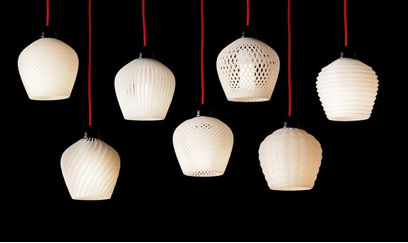 Ceiling or Wall Hangings—When it comes to creating just the right ambiance for your favorite room, wall and ceiling hangings can go a long way. Using a variety of materials, you can create decorative 3D ceiling or wall hangings that will accentuate your room like no other. Photo via Retail Design Blog. | Dwell.Join the 3D Printing Conversation: http://www.fuelyourproductdesign.com/