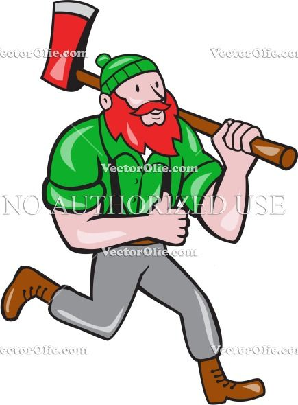 Paul Bunyan Lumberjack Axe Running Cartoon Cartoon Stock Illustration. Illustration of a Paul Bunyan an American lumberjack sawyer forest carrying axe on shoulder running thumbs up set on isolated white background done in cartoon style. #illustration #Pau BunyanLumberjackAxe