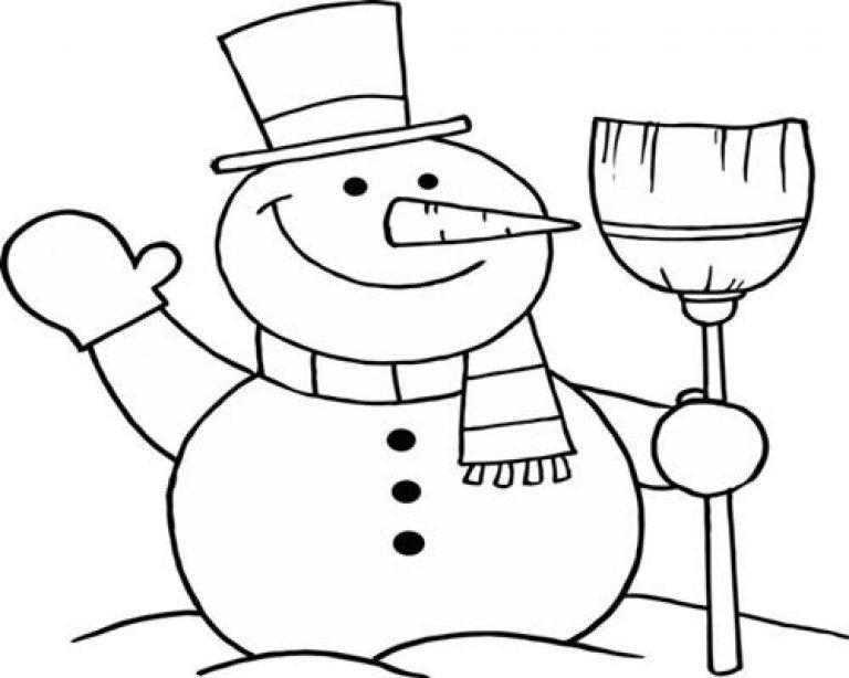 Kumpulan Gambar Untuk Mewarnai Anak Paud Warna Manusia Salju
