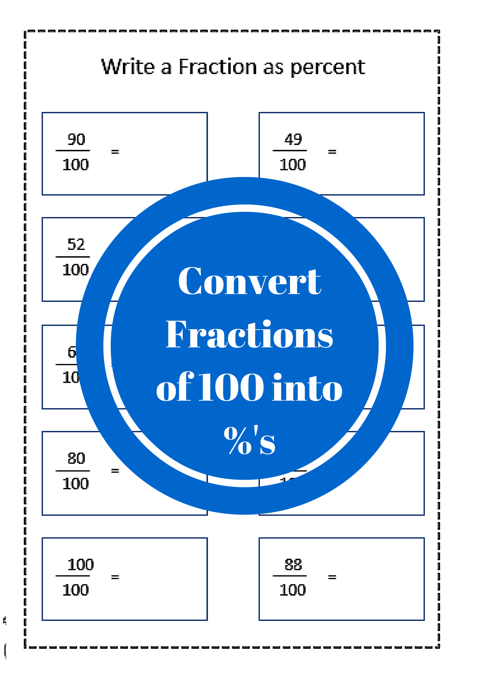 Fraction To Percent Worksheet Free Printables