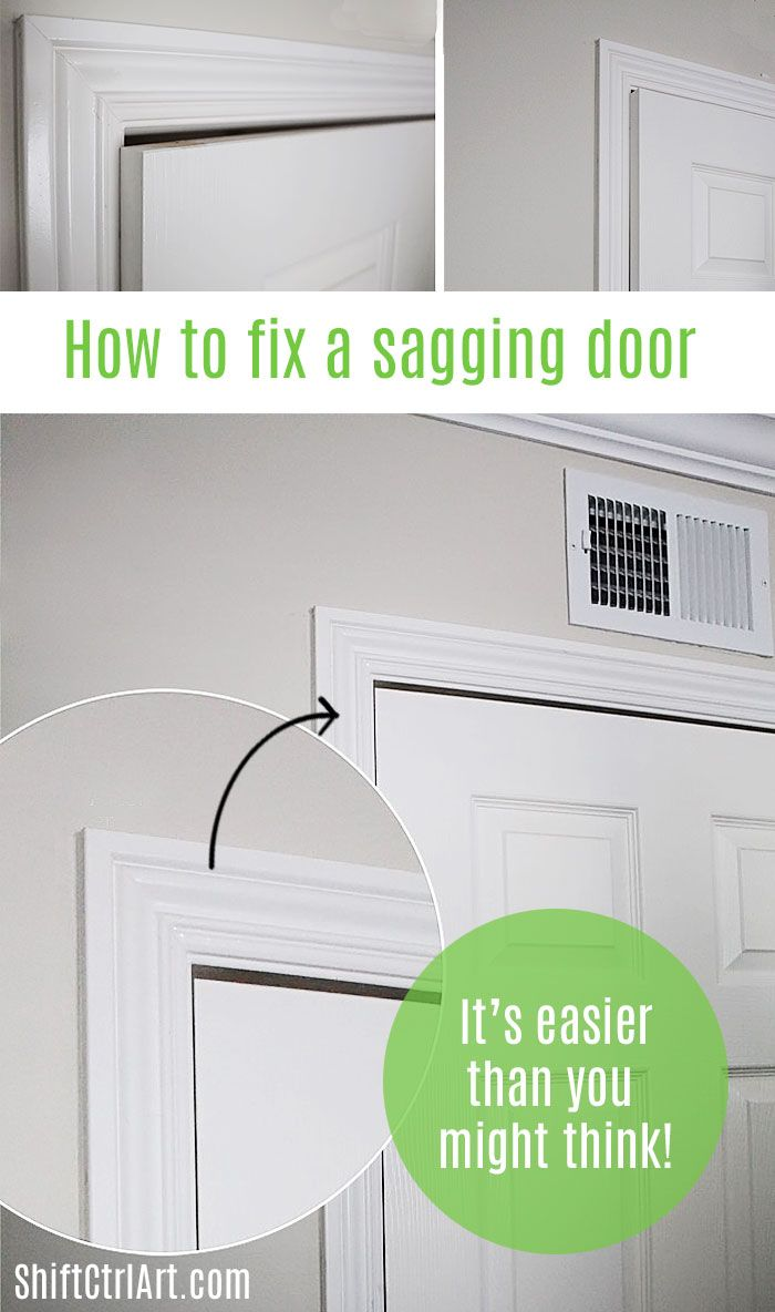 How To Fix A Sagging Door >> How To Fix A Sagging Door See How Easy It Is A Home For Design
