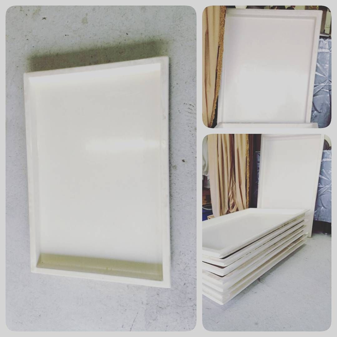 For Sale Plate Plastic Size 60x90 White Color Price 2 Bd للبيع صحون بلاستك حجم كبير فايبر لون ابيض السعر 2 Bd Tel 3377005 Flatware Tray Tray Home