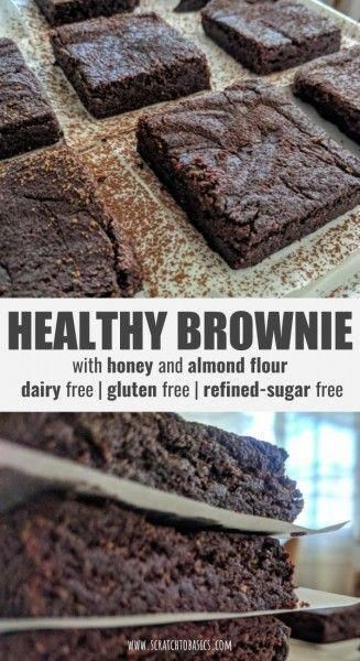 Finally! A healthy brownie recipe that tastes as good as what you're used to. This brownie is made with cocoa powder, almond flour, almond butter and honey. It's packed with protein and is gluten free, dairy free, egg free, and refined-sugar free.