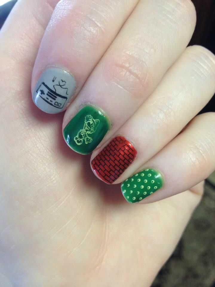 Luigi Nintendo nails using MoYou plates   @FunkifiedNails ...