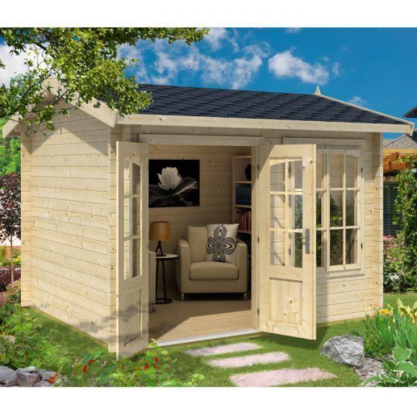 Garden Sheds 5m X 3m greenway 3m x 2.5m elizabeth log cabin -http://www.sheds.co.uk/log