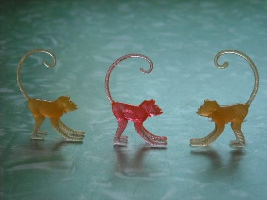 Tiny Plastic Monkeys - Jungle Animal Petting Zoo Kitsch - The Allee ...