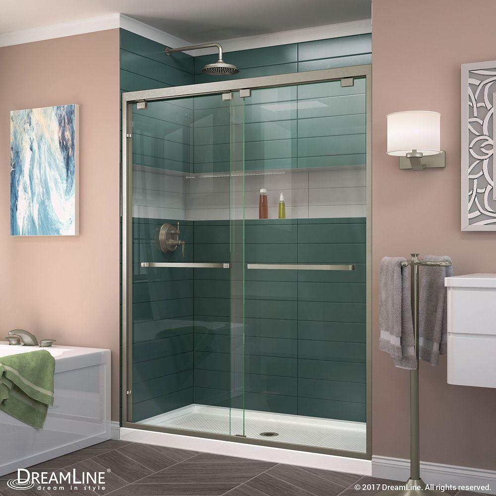 Encore 54 Inch X 76 Inch Frameless Rectangular Sliding Shower Door
