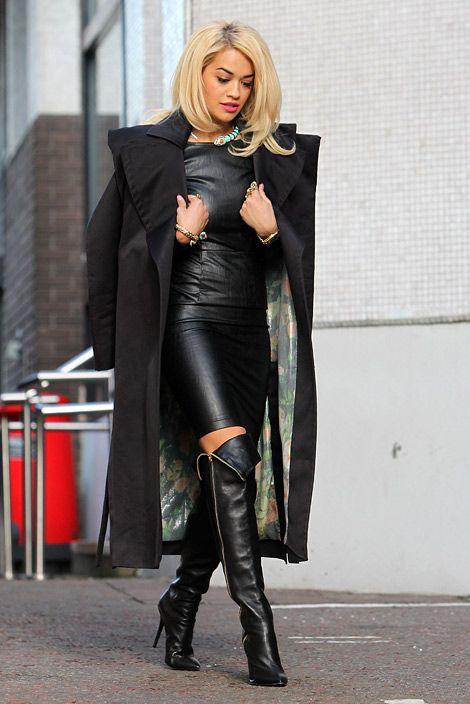6fcc2164f14 Celebrities in Boots  Rita Ora in Giuseppe Zanotti Over The Knee ...