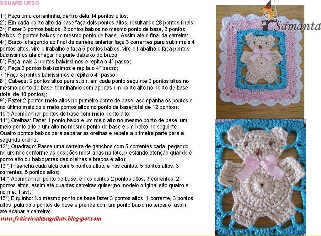 URSO GRAFICO.jpg (1023×751)   pasta 2 croche   Pinterest   Manta ...