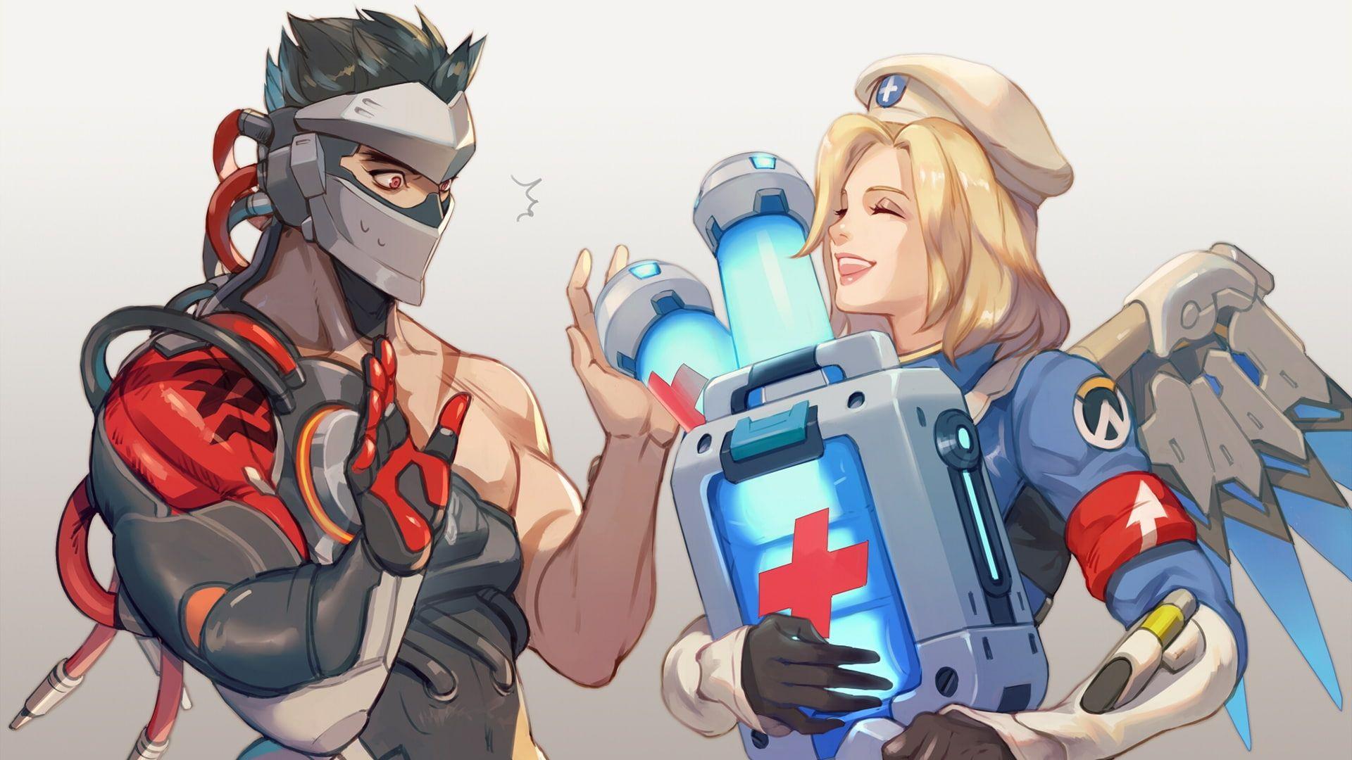Overwatch Video Games Genji Overwatch Combat Medic Ziegler