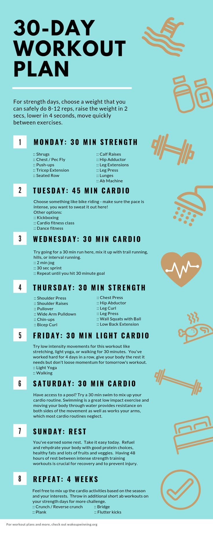 30-Day Fat Loss Workout Plan for Busy Moms #workoutplans