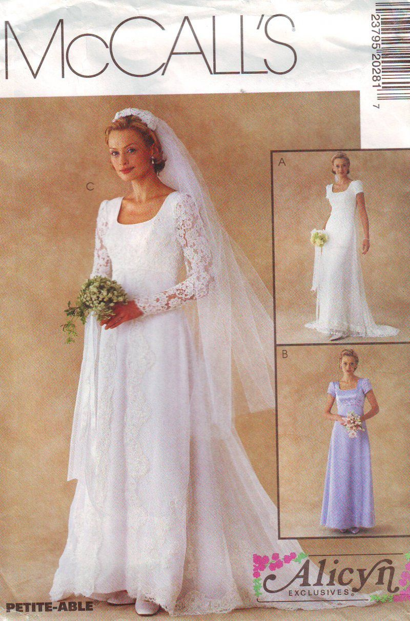 Mccallus or missesu bridal gown uncut sewing