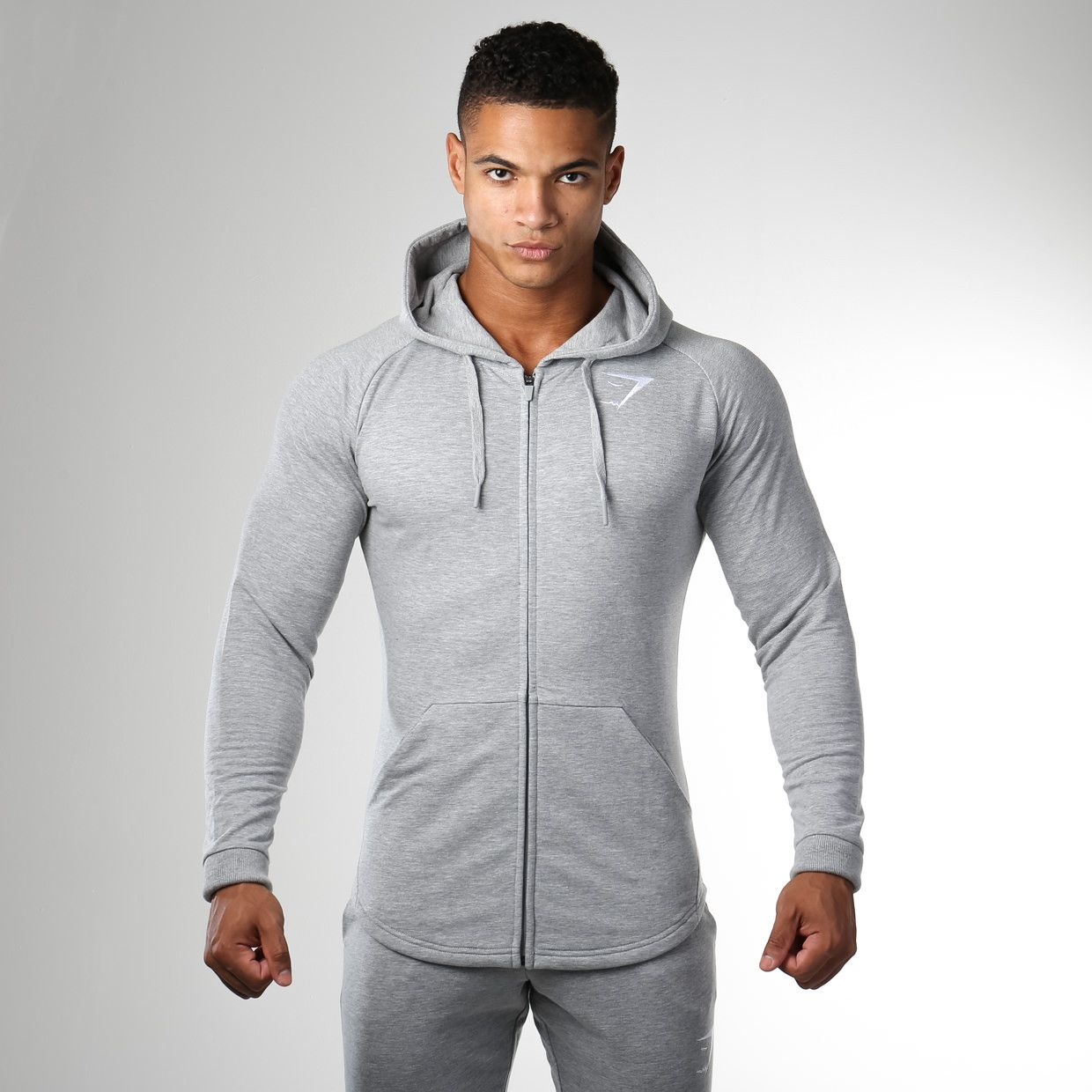 Activewear Men's Clothing Grey Gymshark Ark Zip Hoodie Size M Terrific Value