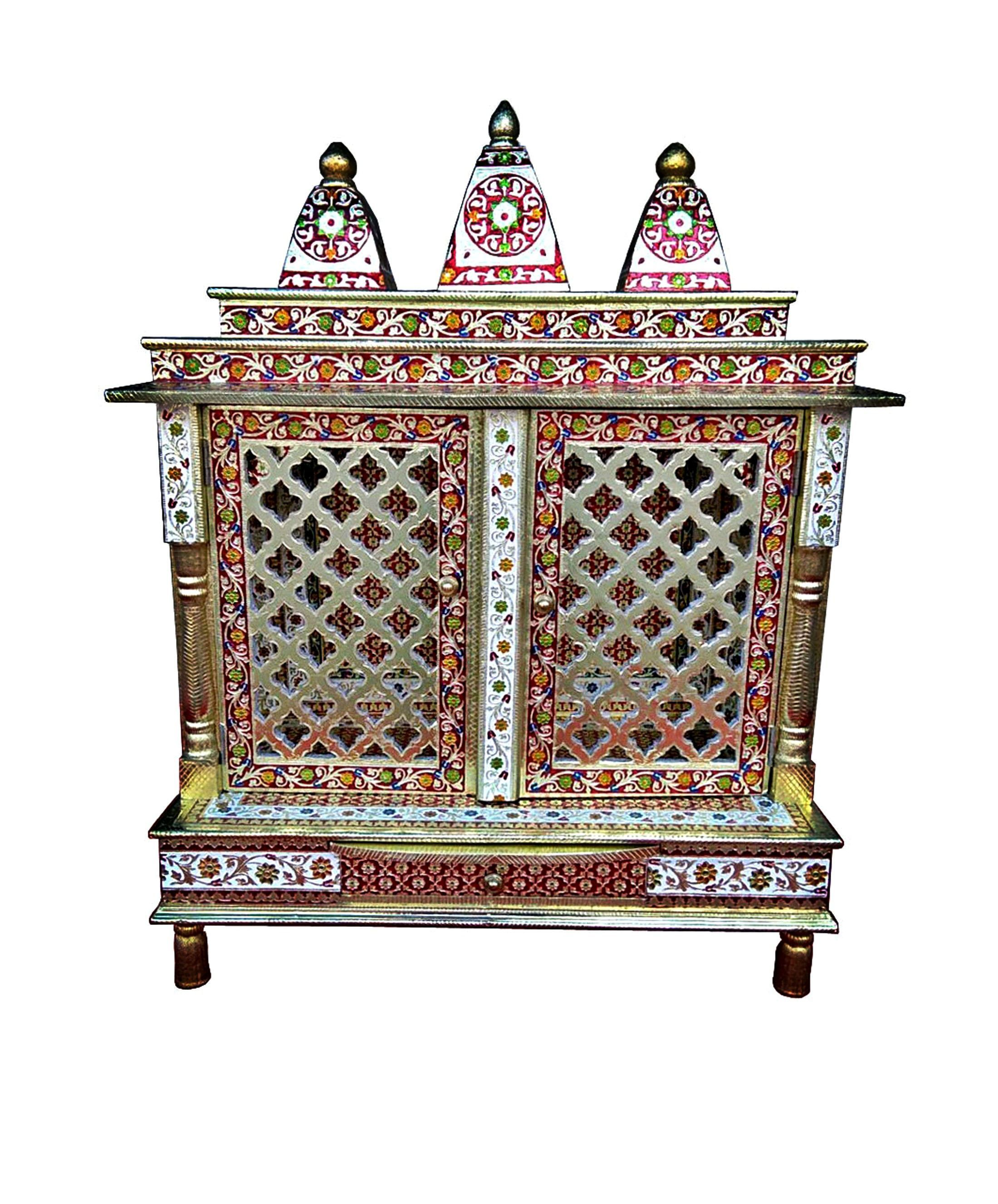 e99dc163e Extra Ordinary Meenakari Work all over the Temple. Meenakari is a very  popular art work of Rajasthan, India; It is an art of metal enameling and  decorating ...