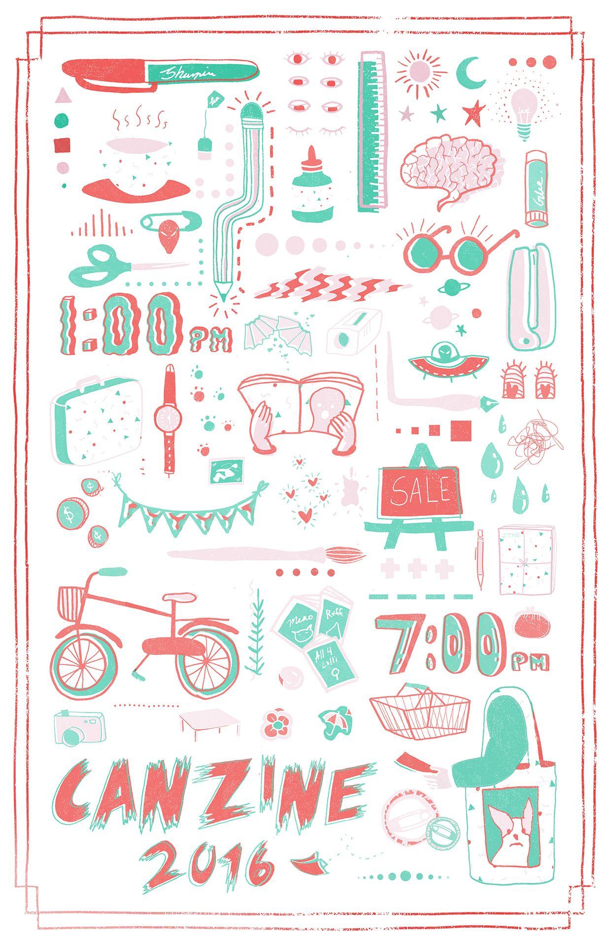 canzine 2016 on behance likelike graphic illustration. Black Bedroom Furniture Sets. Home Design Ideas