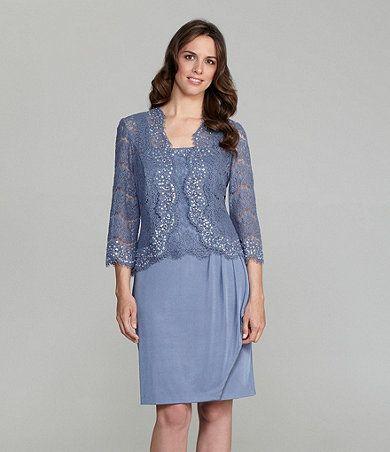 82180710b8e KM Collections Lace Beaded Jacket Dress   Dillards