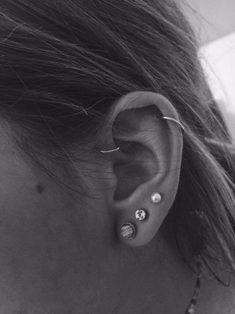 Red bump piercing  Pin by aline on  piercings  Pinterest  Piercing and Ear piercing