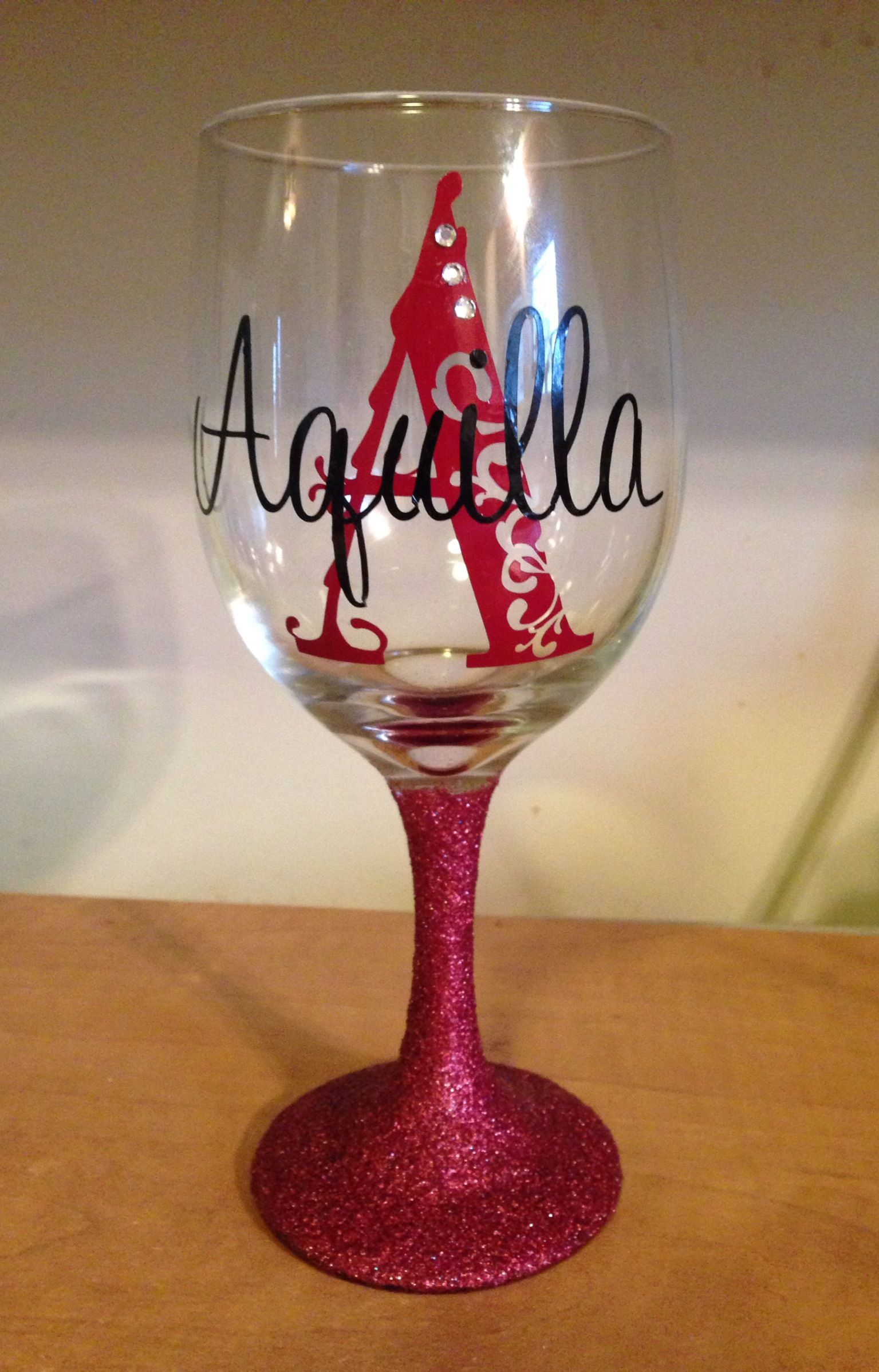 Wine Glass Ideas Glitter Wine Glasses Peacha Designs Pinterest