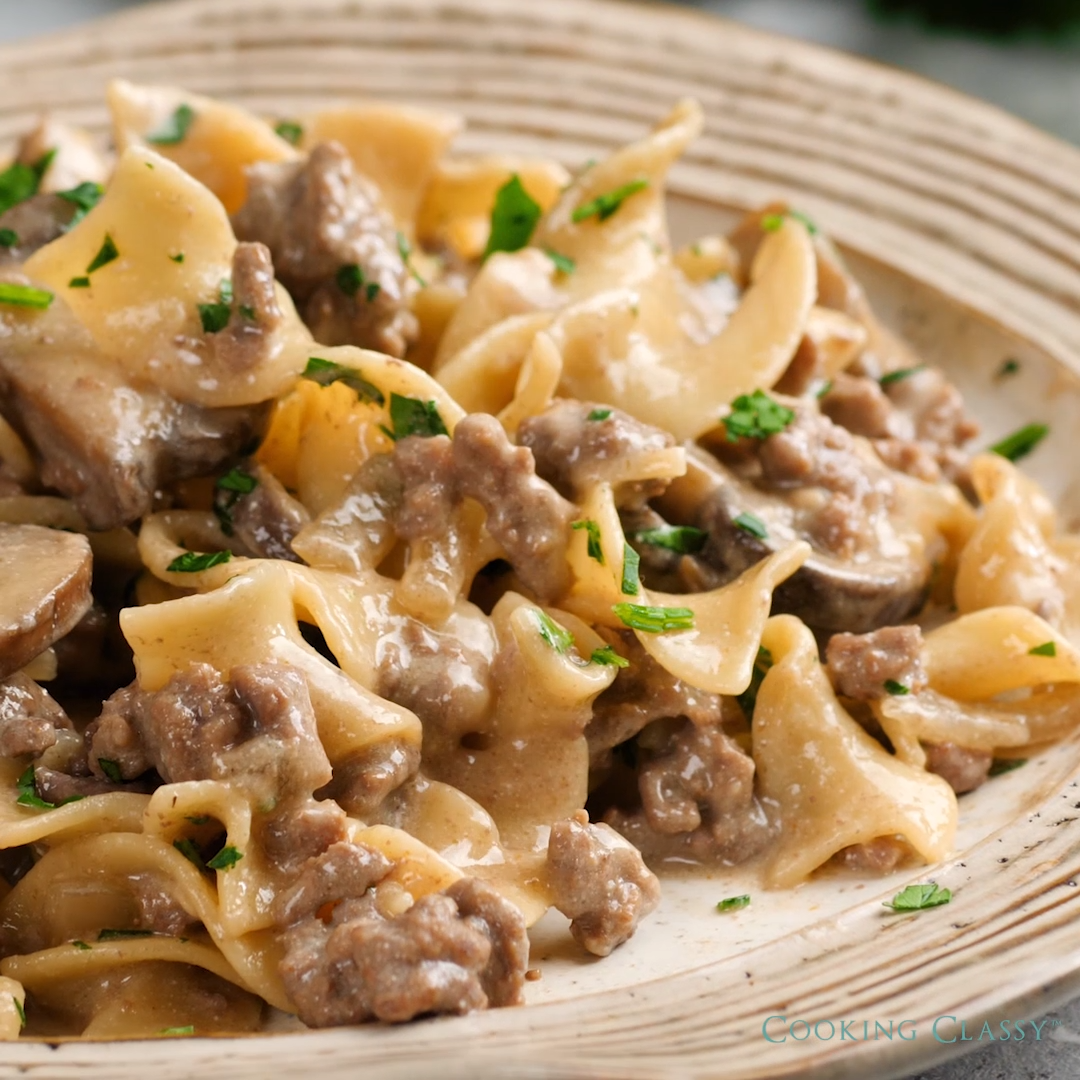 One Pan Beef Stroganoff images