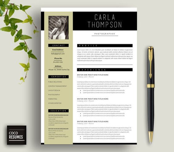 Resume   CV Template Cover Letter for MS Word by CocoResumes 0 - microsoft resume and cv templates