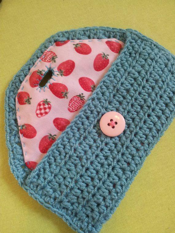 Linda mano Crochet gafas caso para ganchos neceser por ModernBobbin ...