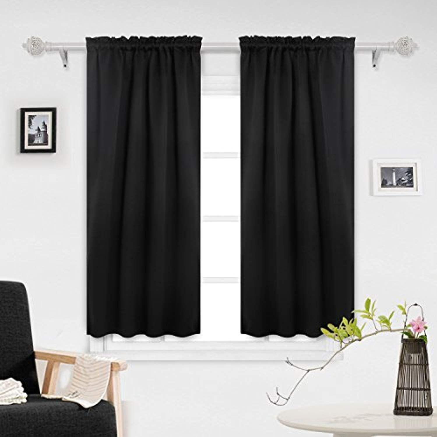 Deconovo Home Decorations Rod Pocket Curtains Blackout Curtains
