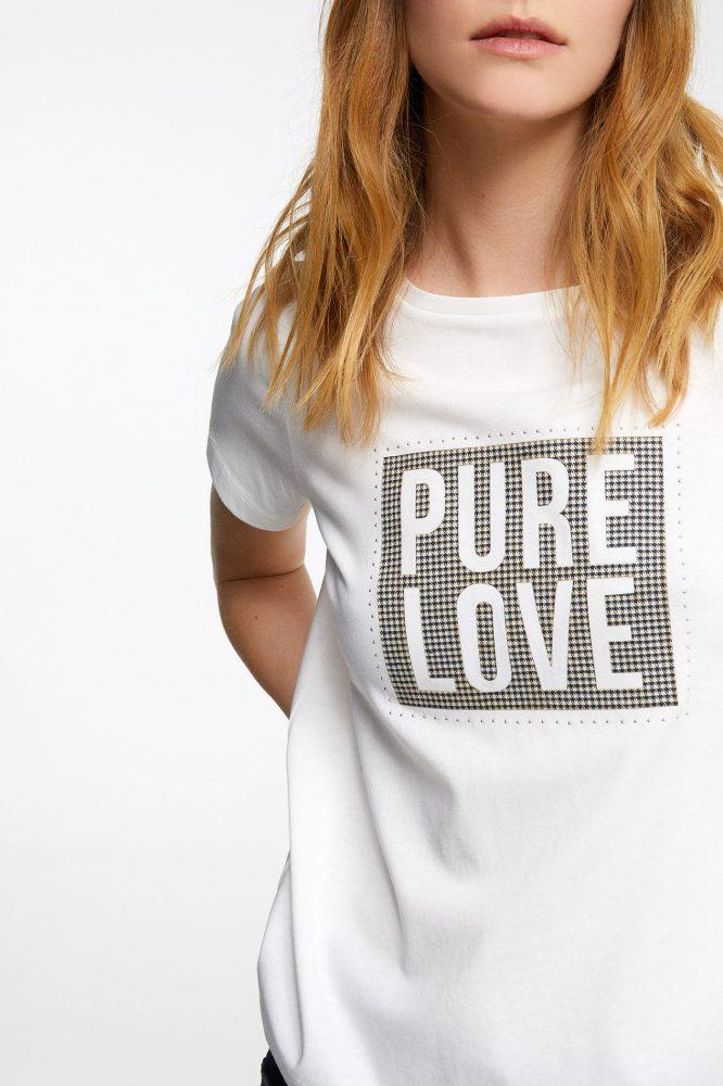 Camiseta Detalle Cuadros Camisetas Femeninas Ropa Camisas Mujer