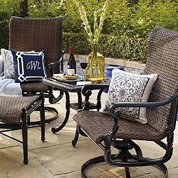 Enjoyable Set Of Two Carlisle Woven Swivel Rocker Lounge Chairs Short Links Chair Design For Home Short Linksinfo
