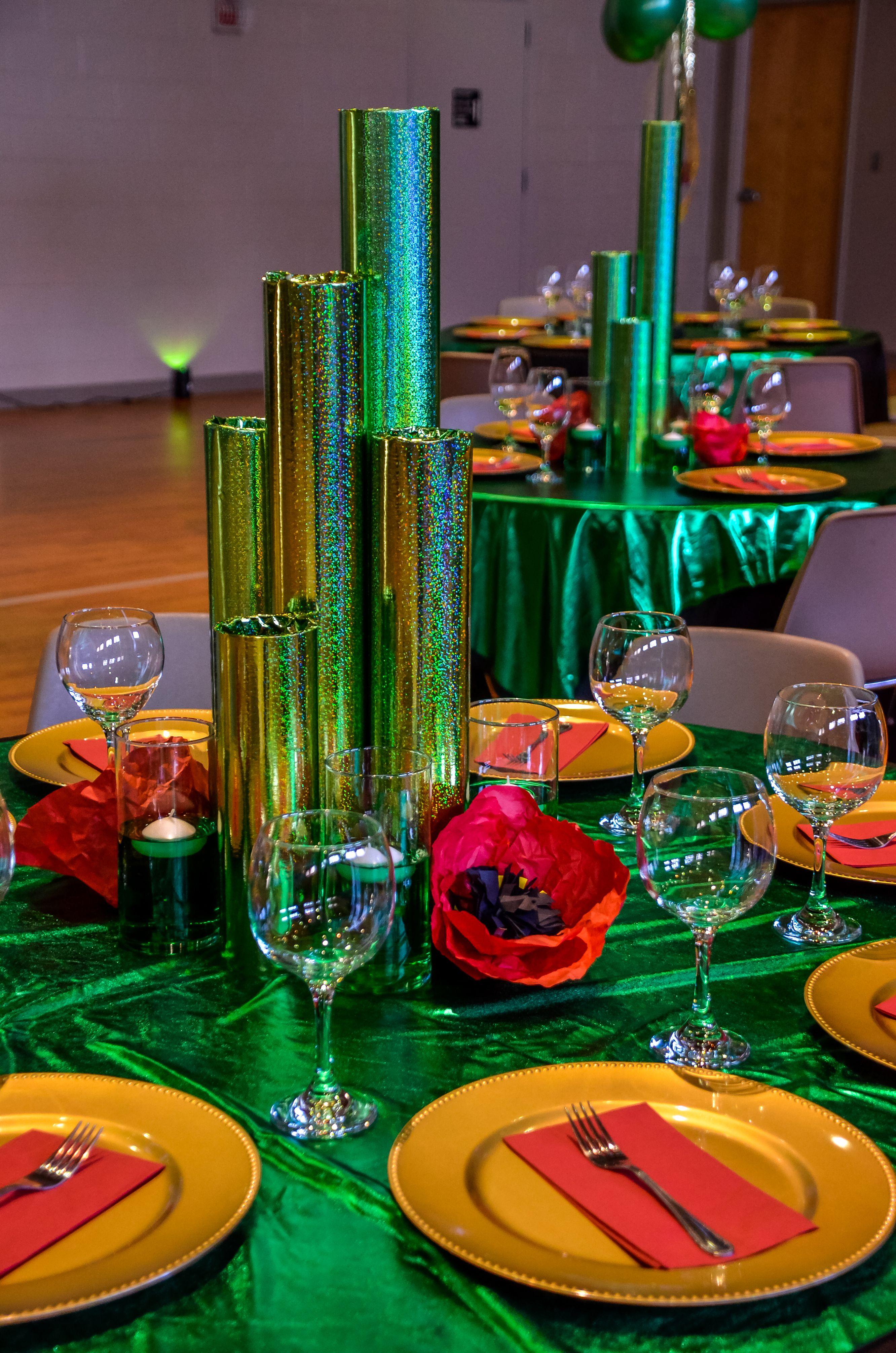 Emerald City Themed Table Decor Wizard Of Oz Decor Emerald